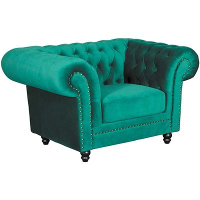 Picture of Callie Tufted Emerald Chair