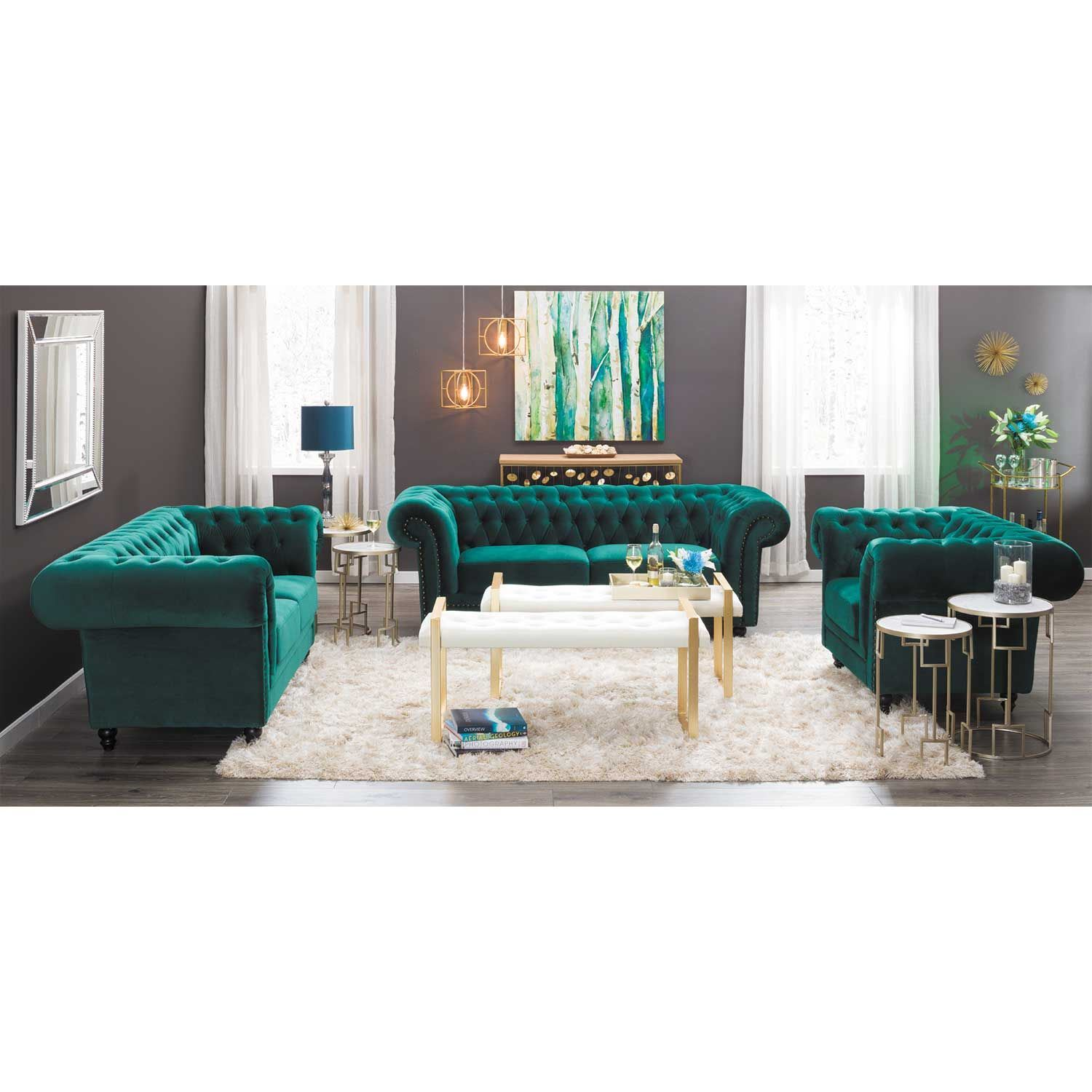 Picture Of Callie Tufted Emerald Sofa Picture Of Callie Tufted Emerald Sofa  ...