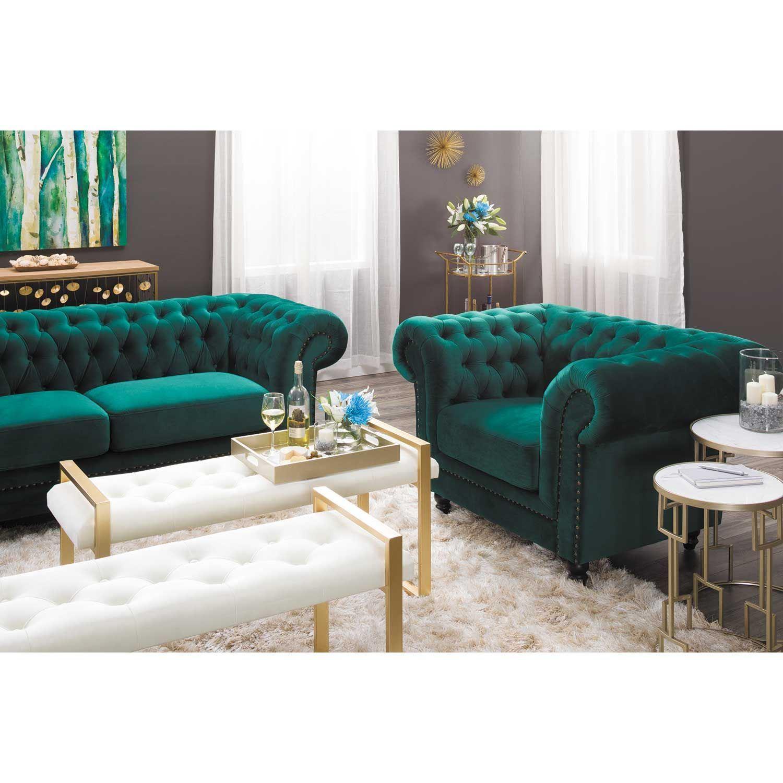 Callie Tufted Emerald Sofa My225 S3 Cc 42 Cambridge