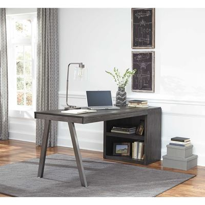 Picture of Raventown Medium Bookcase Desk Return