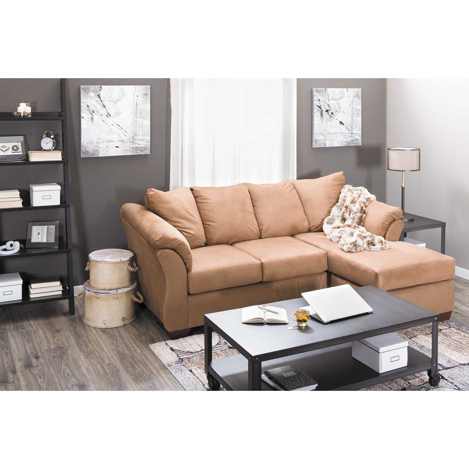 Sectional Sofa Couch Reversible Chaise Ottoman Furniture: Cocoa Reversible Sofa Chaise V1-750SC