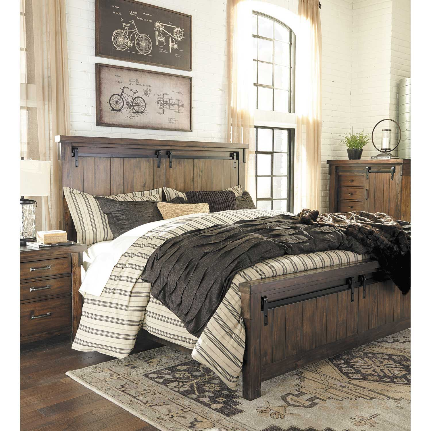 lakeleigh 5 piece bedroom set b718 qbed 31 36 46 93 ashley furniture afw. Black Bedroom Furniture Sets. Home Design Ideas