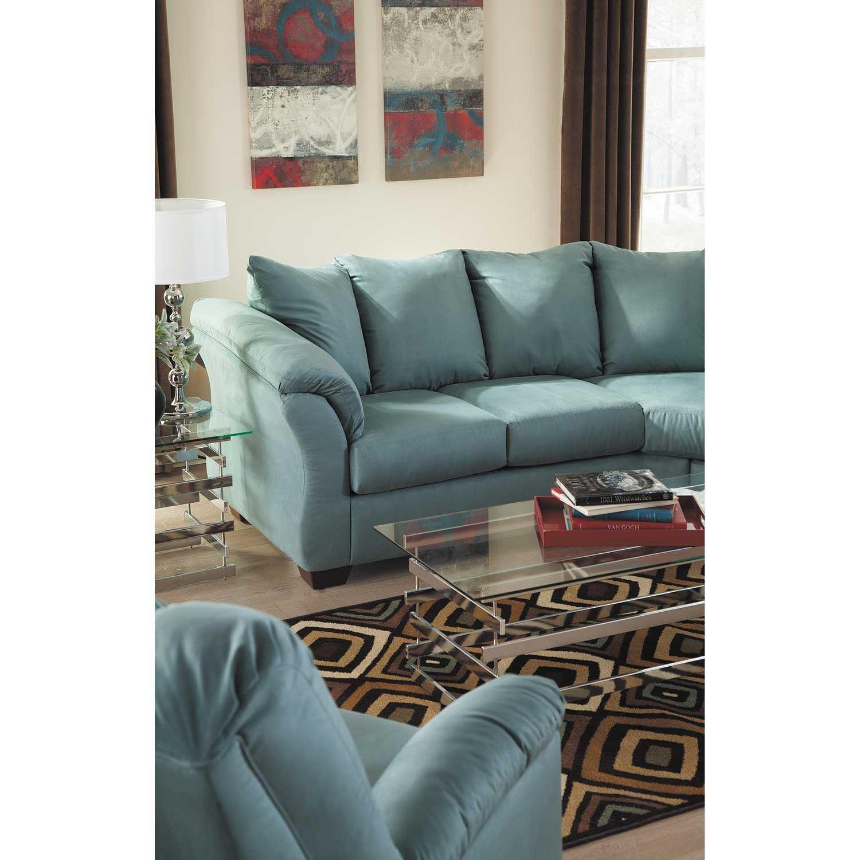 Blue Reversible Sofa Chaise V5 750sc Ashley Furniture Afw