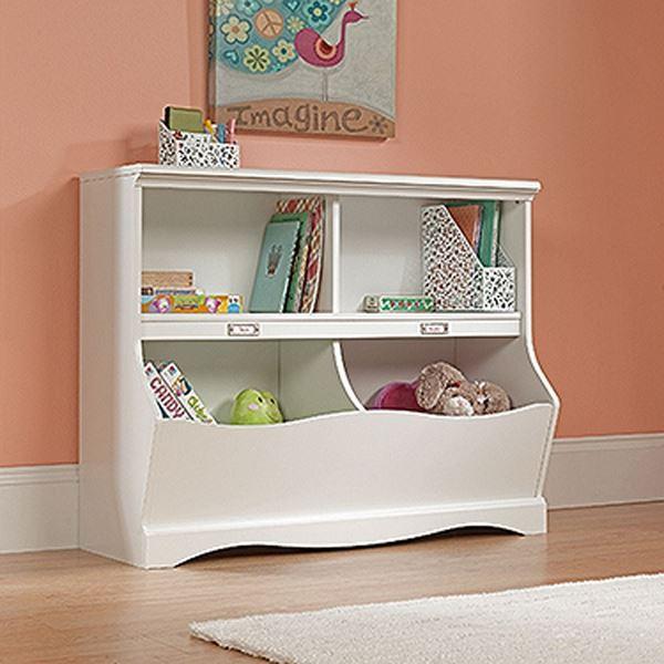 Pogo Bookcase/footboard Soft White * D | 414436 | Sauder Woodworking | AFW