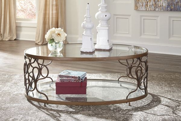 Fraloni Oval COFFEE Table D T Ashley Furniture AFW - Ashley furniture oval coffee table