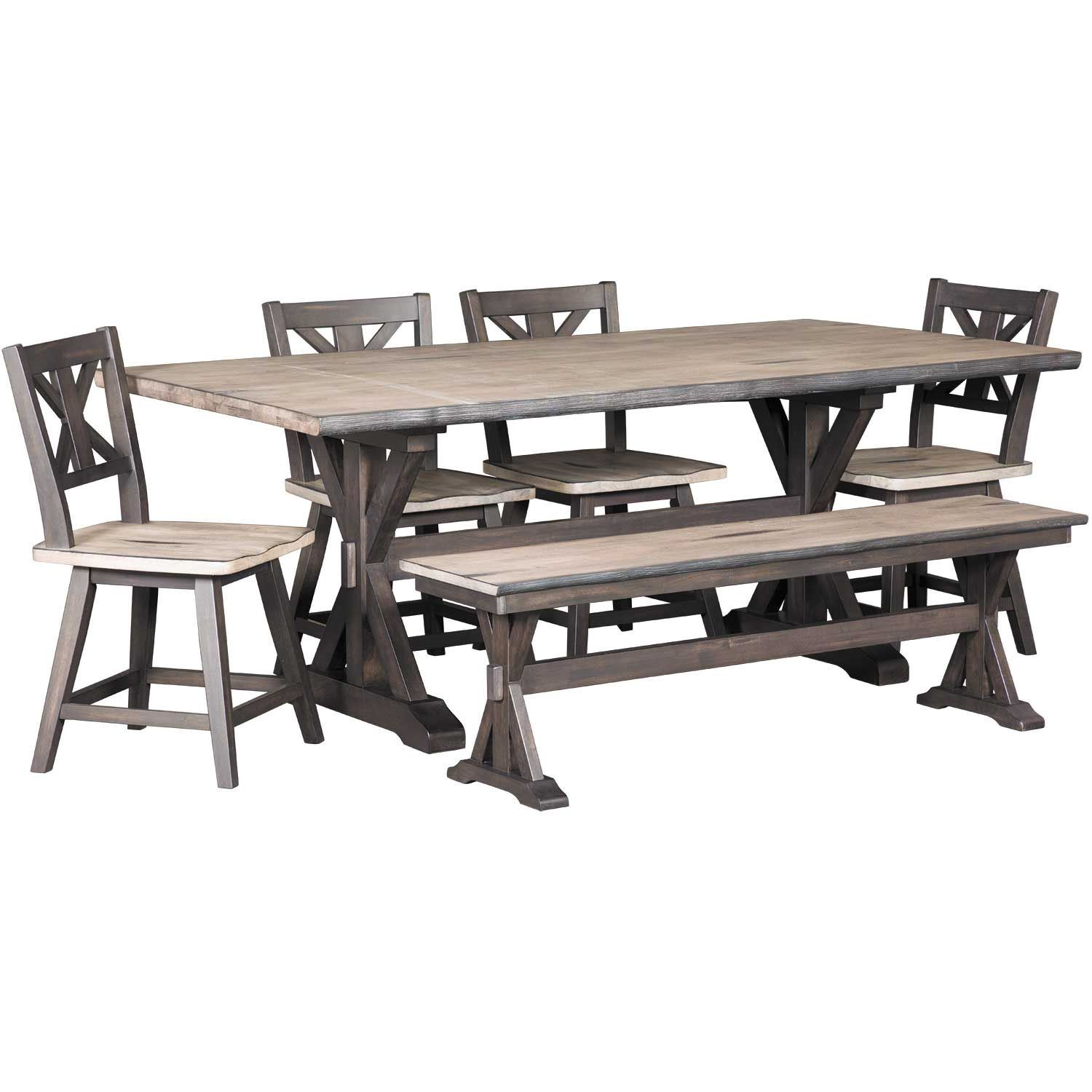 Awesome Picture Of Urban Farmhouse 6 Piece Dining Set