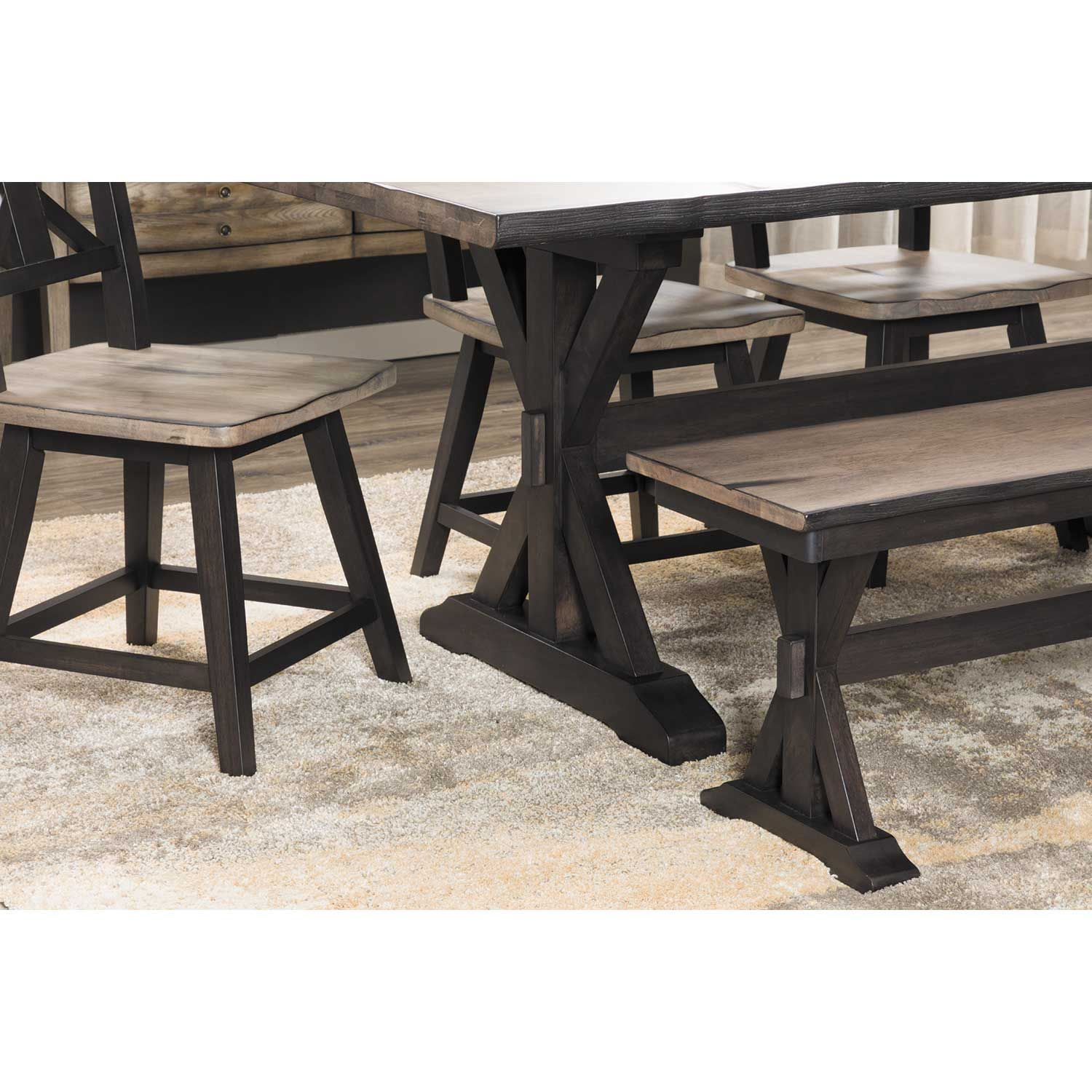 Farmhouse Dining Table: Urban Farmhouse Dining Table