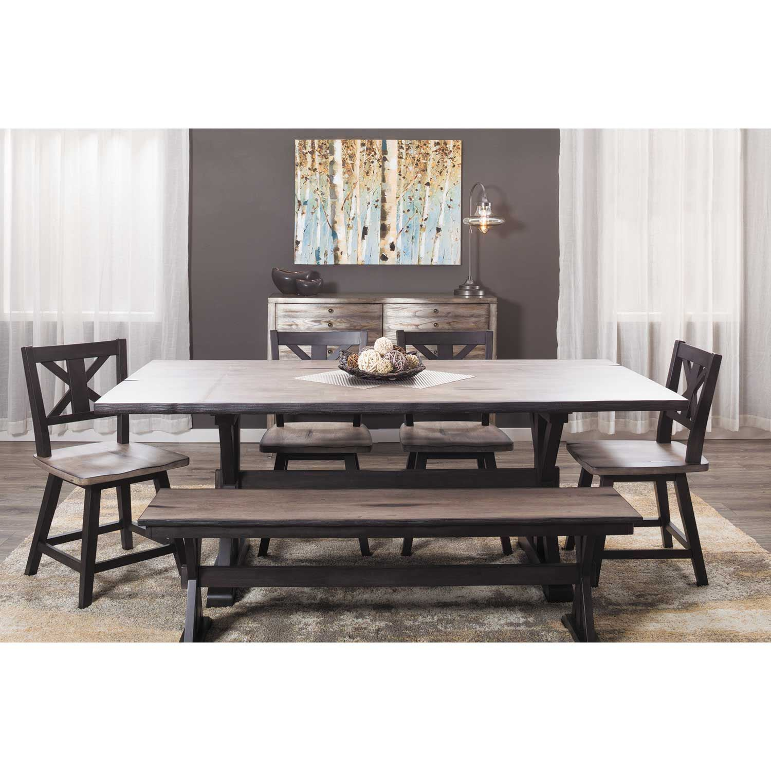 Urban Farmhouse 6 Piece Dining Set 1871 1872 4 1873