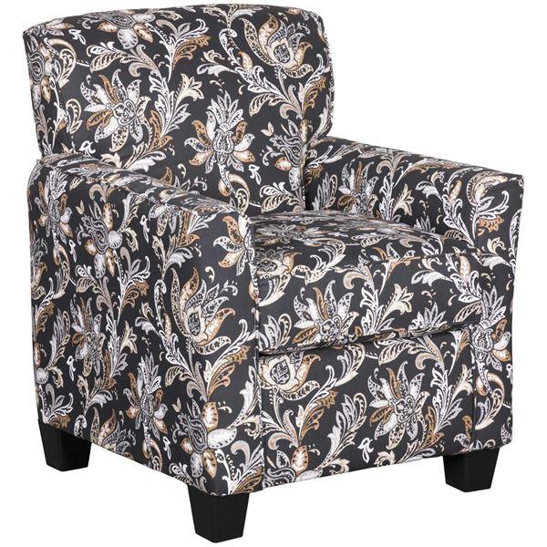 Simple Floral Accent Chair Decoration Ideas