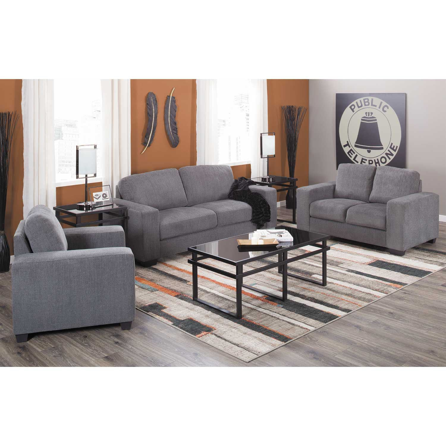 Charleston Dark Gray Sofa U2348m 60bcgxgrx Dark Gray