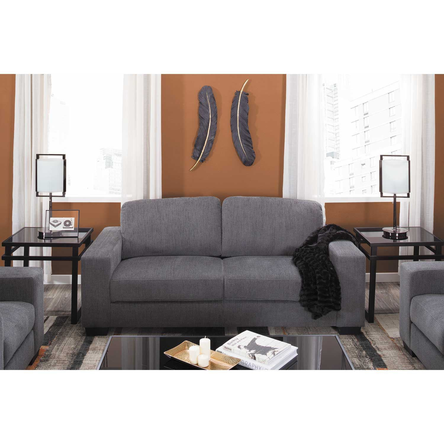 Dark Grey Couch Living Room Pillows