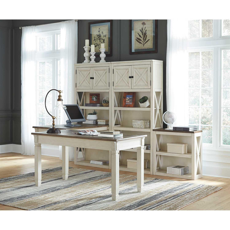Bolanburg Large Bookcase Desk Return H647 14 17