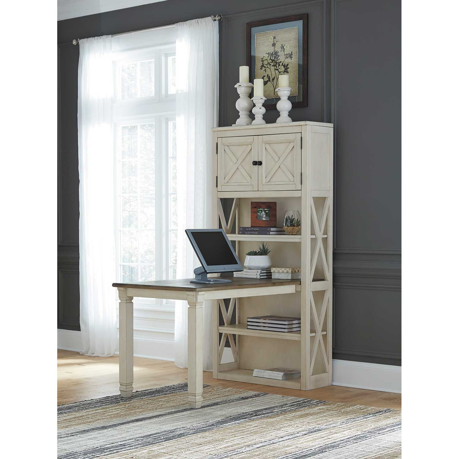 bolanburg large bookcase desk return h647 14  17