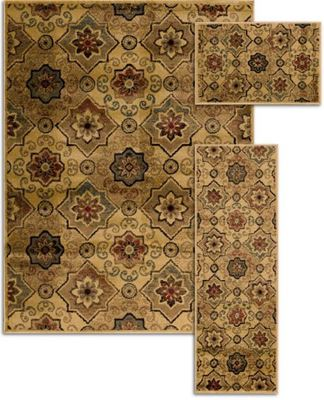 Imagen de Alto 3pc Wheat/Multi Rug Set