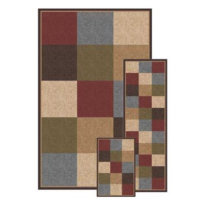 Picture of Fifteen Blocks 3 Pc Rug Set