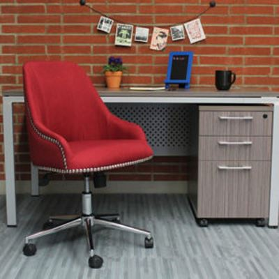 Picture of Boss Carnegie Desk Chair - Marsala Red* D