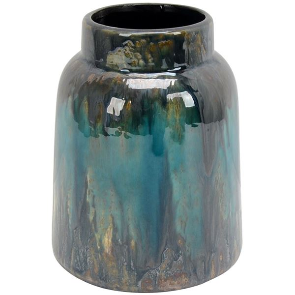 Blue And Grey Ceramic Vase 85195 Cp8 Three Hands Corporation Afw
