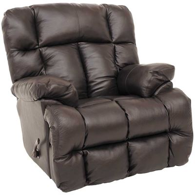 Picture of Victor Chocolate Italian Leather Rocker Recliner