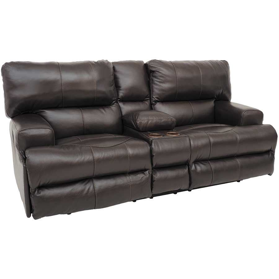 Attrayant Picture Of Wembley Chocolate Italian Leather Power Reclining Loveseat