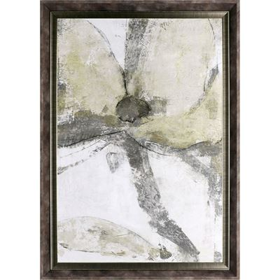 Picture of Framed Yellow Grey Floral