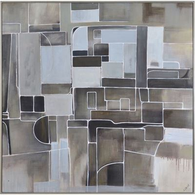 Picture of Grey Taupe Abstract Wall Art