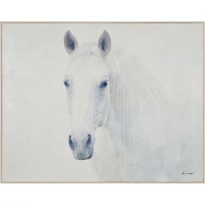 Picture of White Horse Wall Decor