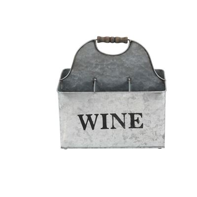 Imagen de 6-Slot Galvanized Metal Wine Holder
