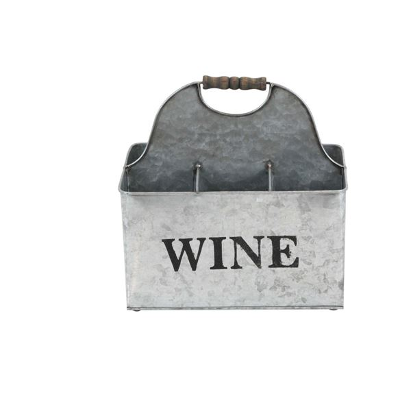 Picture of 6-Slot Galvanized Metal Wine Holder