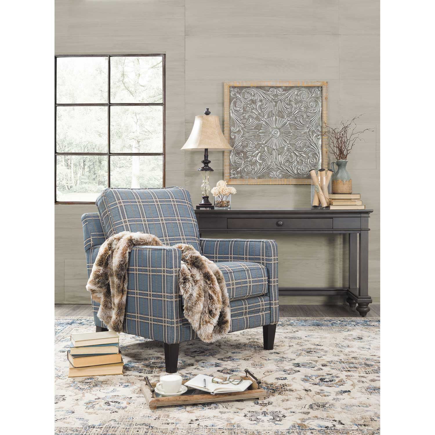 Traemore Plaid Accent Chair 2740321 Ashley Furniture Afw