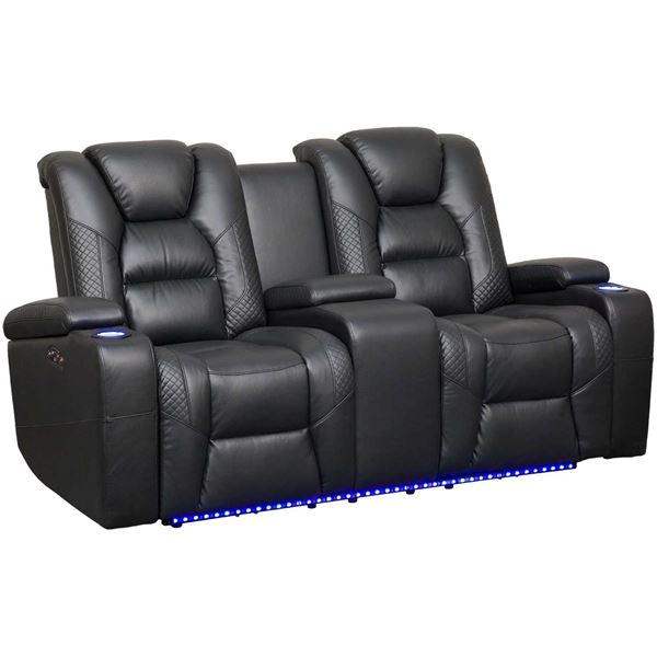Picture of Ryker Power Reclining Console Loveseat