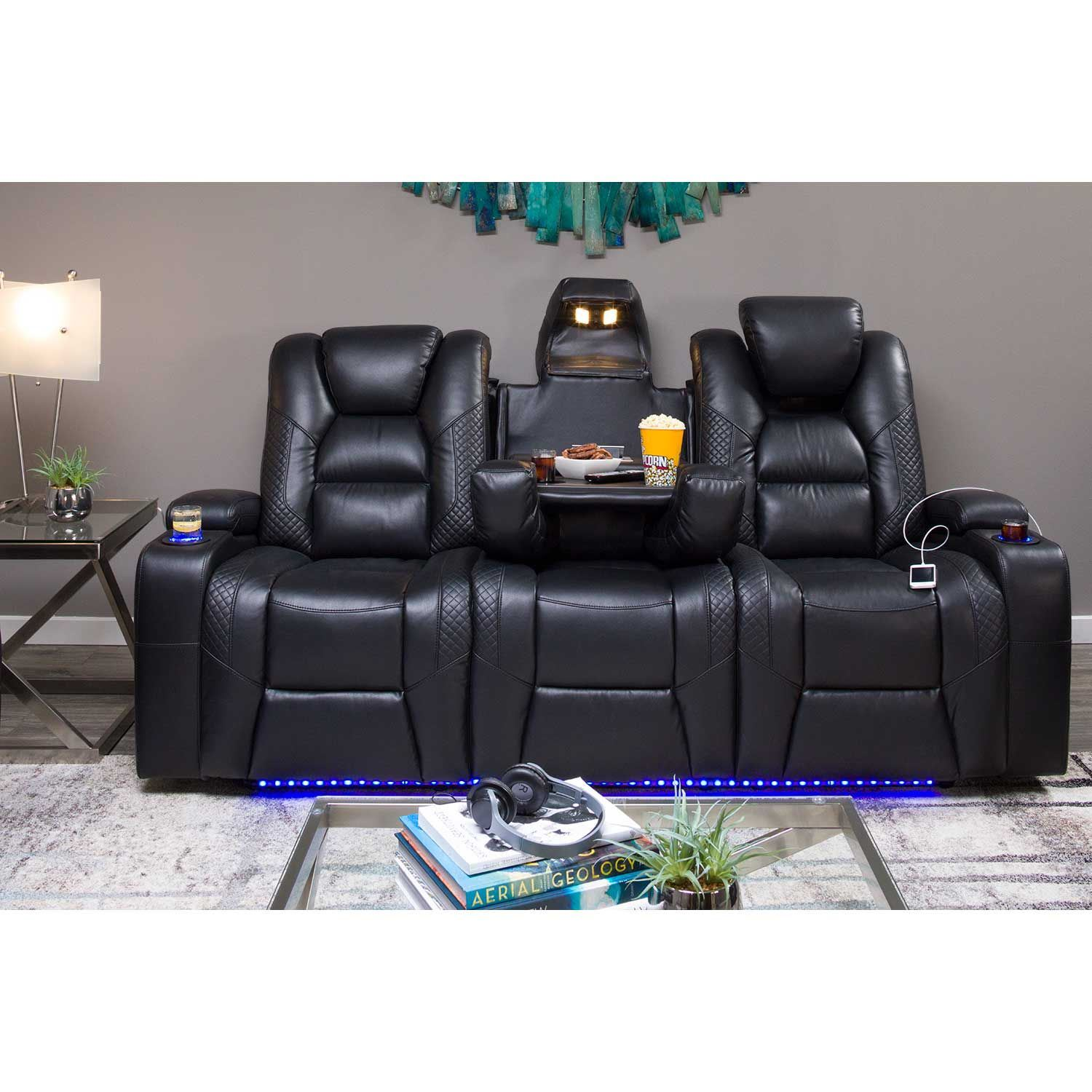 Ryker Power Reclining Sofa With Drop Table 549 52phr