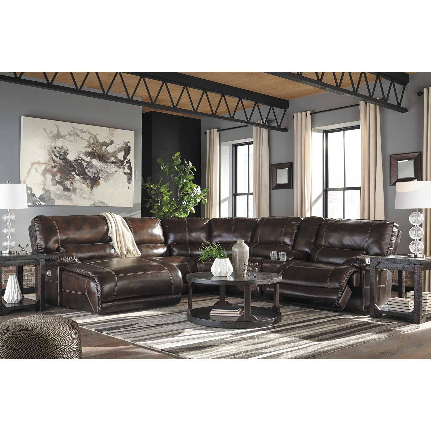 Killamey 6 Piece Power Reclining Sectional with LAF Chaise ...