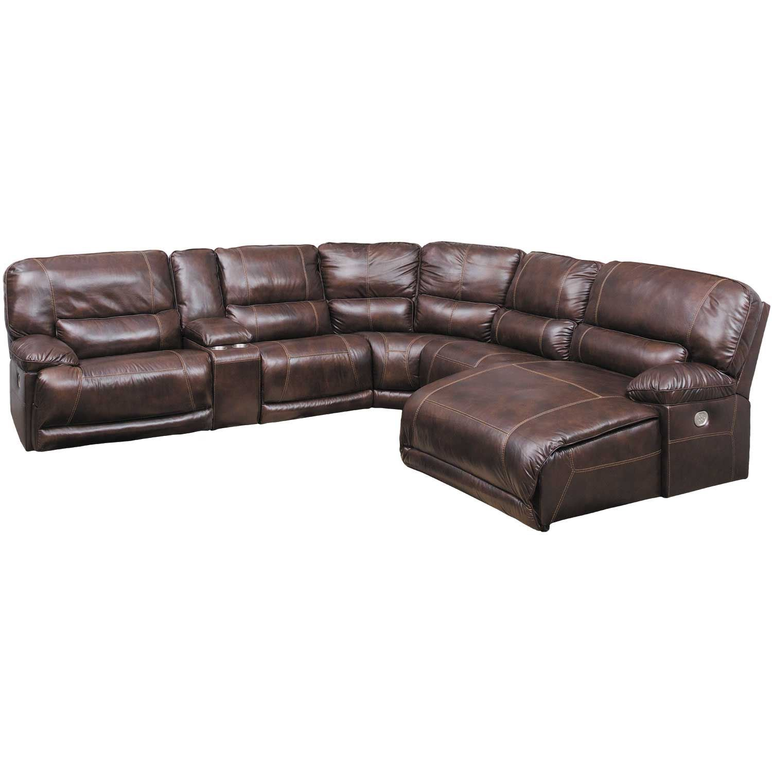 Picture Of Killamey 6 Piece Power Reclining Sectional With RAF Chaise