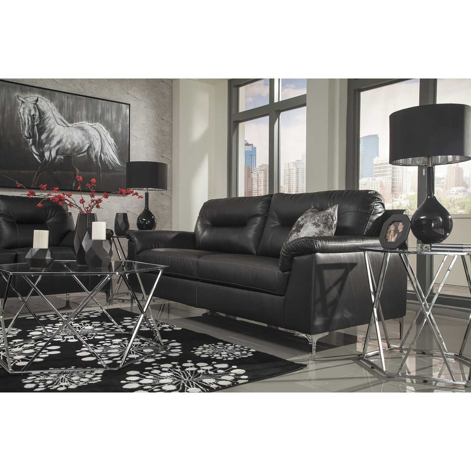 Jcpenney Furniture Store Locations: Tensas Black Sofa
