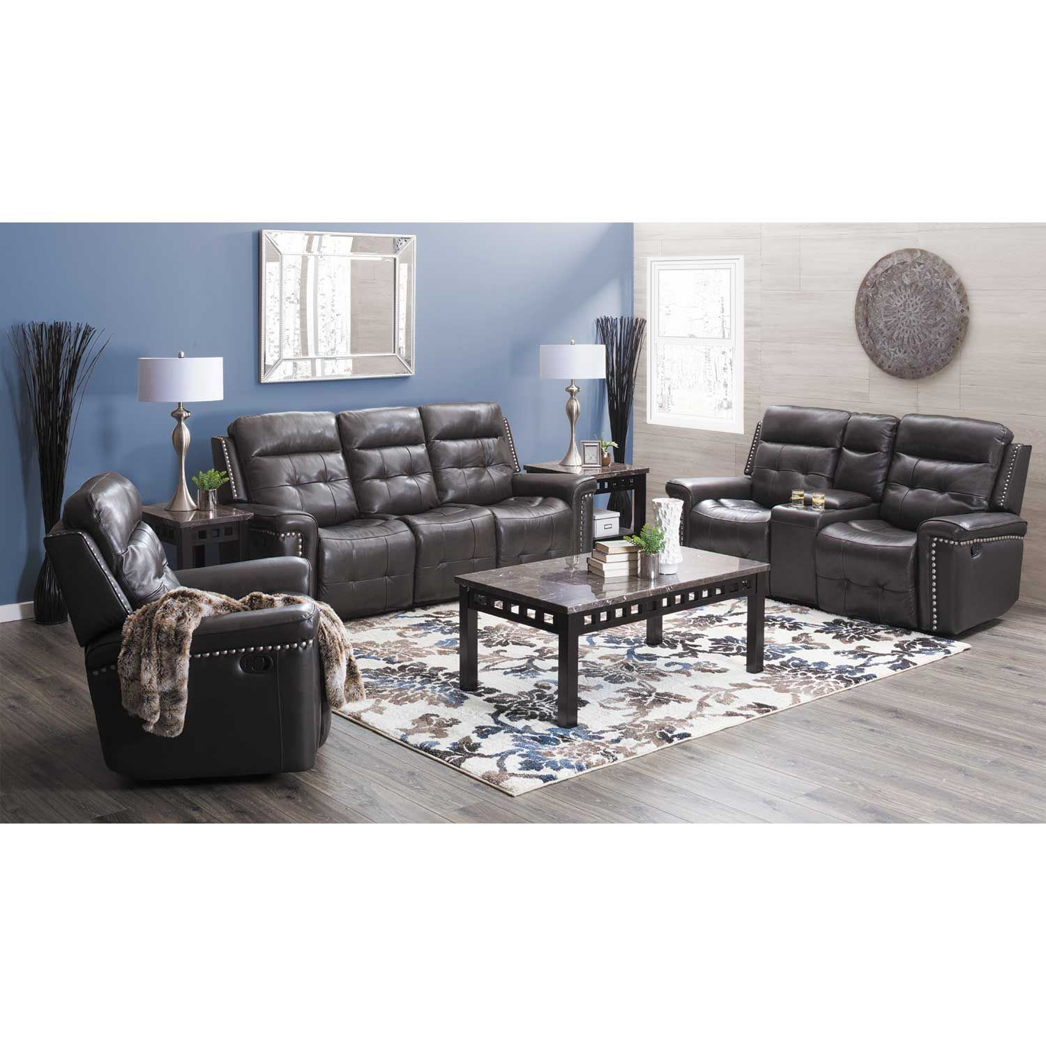 Kenzie Leather Power Reclining Sofa D7287by53 F068 V068