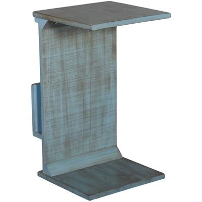 Picture of Blue Manor House Chairside Table with Magazine Rack