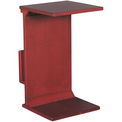 Picture of Red Manor House Chairside Table with Magazine Rack