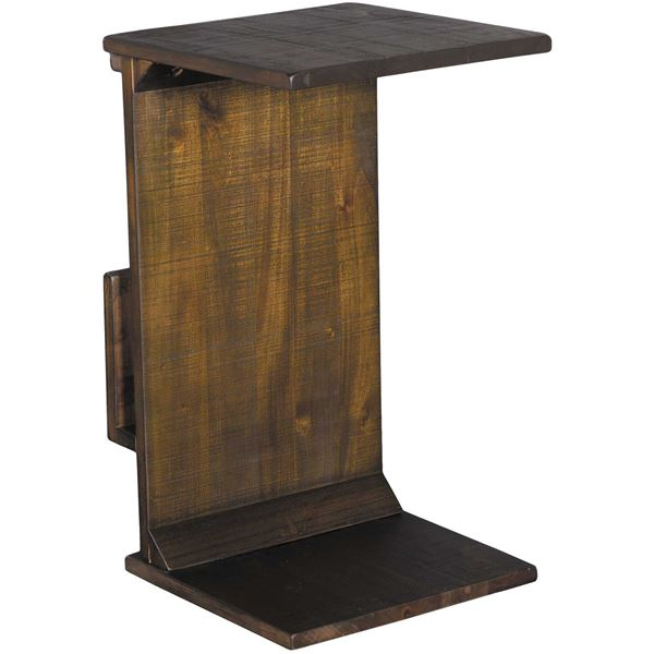 Picture of Tobacco Manor House Chairside Table with Magazine Rack