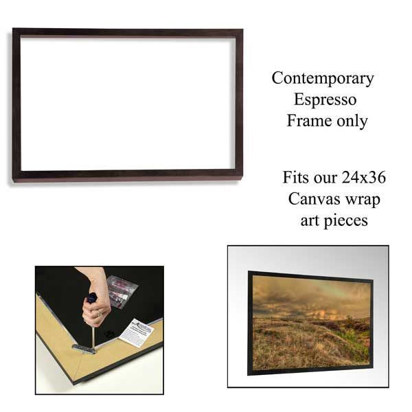 Picture of Contemporary Espresso Frame 24X36