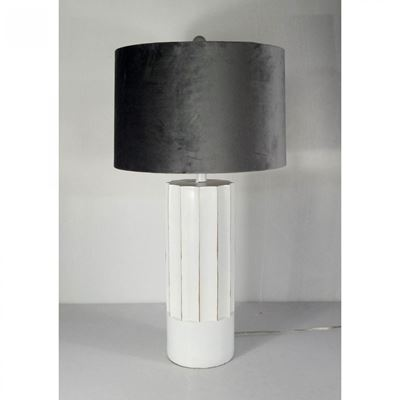 Picture of White Column Table Lamp