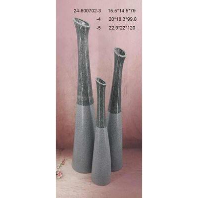 Imagen de Two Tone Grey Teal Floor Vase