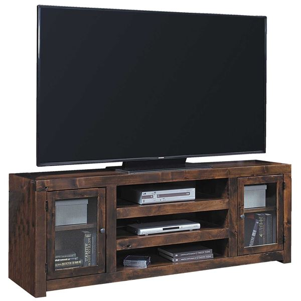 72-Inch Alder TV Console with Doors  sc 1 st  AFW & 72-Inch Alder TV Console with Doors DL1073-TOB | Aspen Home | AFW