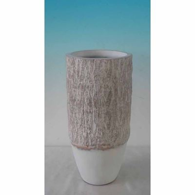 Picture of Wood Look White and Natural Vase