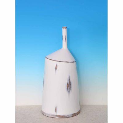 Picture of Short Organic Shape White Vase