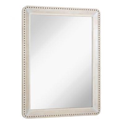Imagen de Whitewashed Mirror with Nail Head Trim