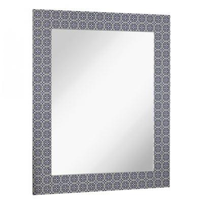Imagen de Blue Pattern Wall Mirror