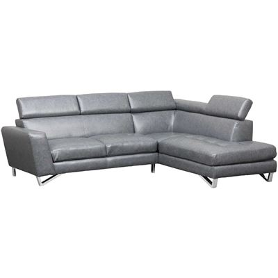 Imagen de Gray 2 PC Bonded Leather Sectional
