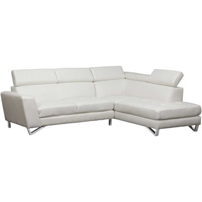 Picture of White 2 PC Bonded Leather Sectional