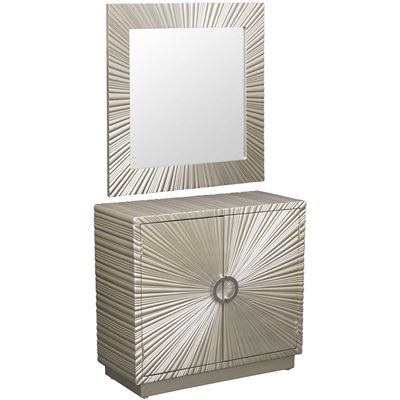 Picture of Silver Cabinet and Mirror Set