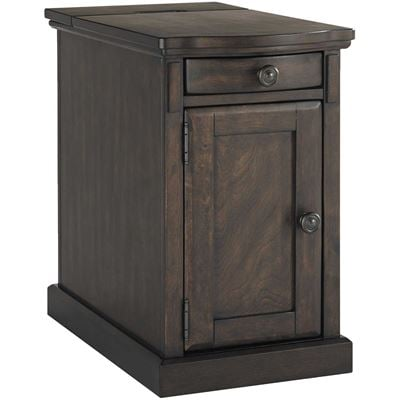 Picture of Laflorn Warm Brown Chairside End Table